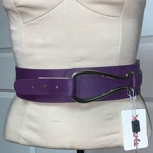 Nordstrom Accessories - Garuguliani Italy Purple Waist Silver Buckle L